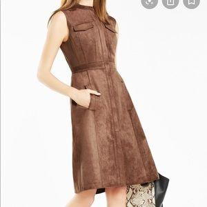 BcbgMaxAzria suede dress. New with tags!